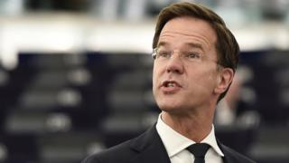 Archive image shows Dutch Prime Minister Mark Rutte speaking at the European Parliament on 5 July 2016.