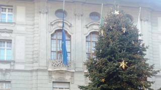 Christmas tree in Bolzano