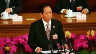 2007年,肖揚向中國全國人大作年度工作報告。