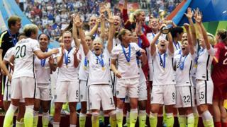 US women's national football team after winning World Cup