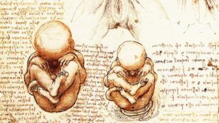 Estudios de Leonardo da Vinci de bebés