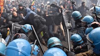 Протесты во Флоренции