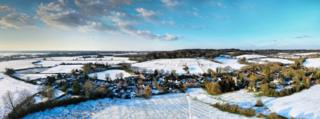Sunningwell in the snow