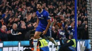 Dan wasan gaba na Chelsea Diego Costa