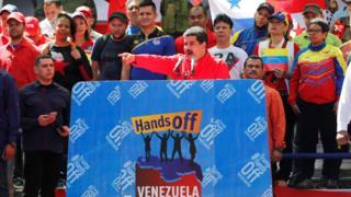 Nicolás Maduro em pronunciamento