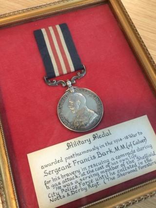 Sgt Bark's medal