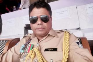 E l superintendente de la policía de Bazar de Cox, A B M Masud Hossain