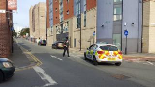 Police car on a street
