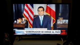 Puerto Rico Governor Ricardo Rossello announces he will resign. Photograph: July 24, 2019