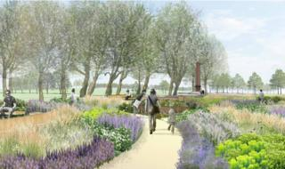 Artist impression of Springfield Park
