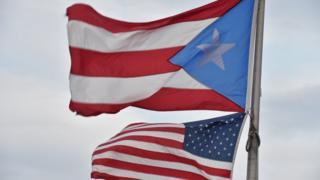 Puerto Rico and US flags