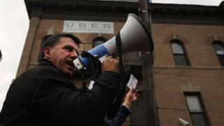 Drivers in New York City have organised often to protest aspects of Uber's business