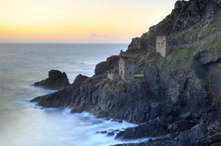 A castle by the sea at Botallack Mine