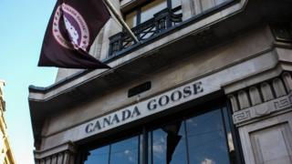An animalist demonstration took place outside Regent Street's Canada Goose, London