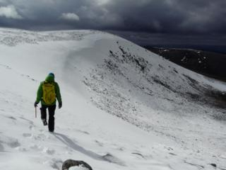 Conditions in the Northern Cairngorms on Monday