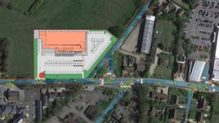 Proposed Lidl store in Aldermaston