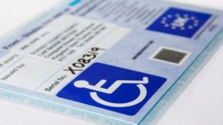 A blue badge for disabled driver