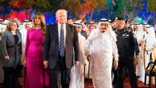 سعودي کې د ټرمپ تود هرکلی وشو