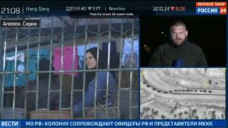 Russian TV coverage of Aleppo