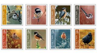 Manx bird stamps