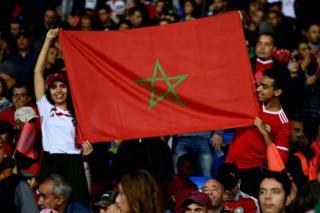 De jeunes supporters marocains.