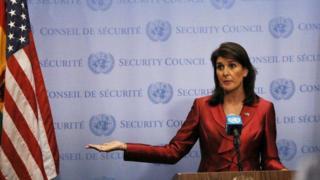 นางนิกกี เฮลีย์ ทูตสหรัฐฯ ประจำสหประชาชาติ ต