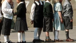 Children in uniforms, generic