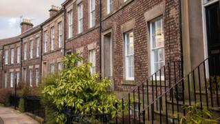 Terraced houses in Newcastle