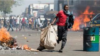 Manifestation de protestation au Zimbabwe.