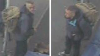 CCTV images of the man police want to speak to