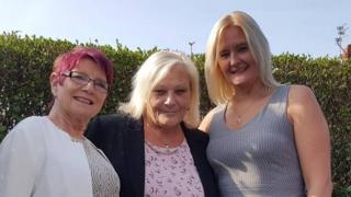 Irene James, Ellen Whiteley and Amanda Mitchell