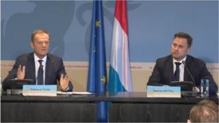 Donald Tusk (left) and Xavier Bettel