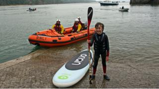 Asher Jenkin Jones after completing his paddle board challenge