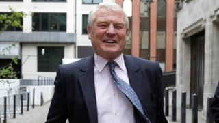 Paddy Ashdown leaving the Liberal Democrat Party HQ in London in May, 2018