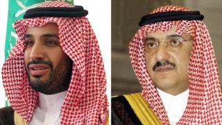 沙特王子薩勒曼和納耶夫