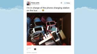 tweet of phone charging