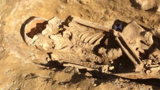 Skeleton in York