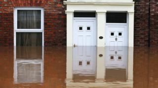 Doors flooded