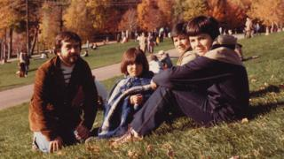 Karin Arroyo and her family in Montreal