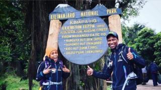 Gugu Zulu and his wife Letshego