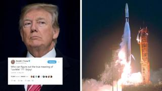 Donald Trump and a Nasa spacecraft