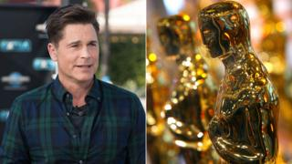 Rob Lowe and an Oscars statuette