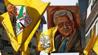 Palestinians rally in support of Mahmoud Abbas (04/10/16)