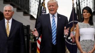 Shugaba Donald Trump a tsakiya