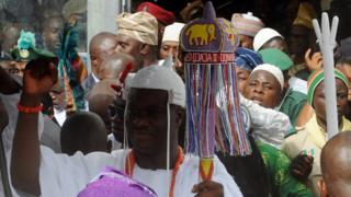 Adeyeye Enitan Ogunwusi in the white hat