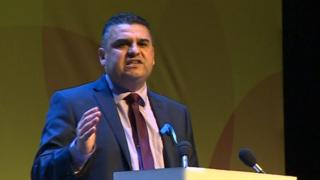 Neil McEvoy at the Plaid Cymru conference