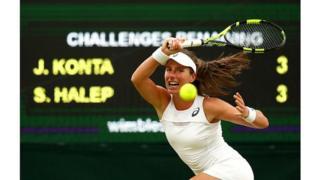 Elle devient ainsi la première britannique demi-finaliste de Wimbledon depuis Virginia Wade en 1978.