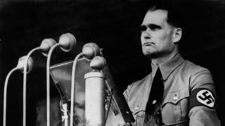 Rudolf Hess making a speech in 1937