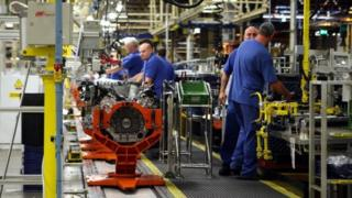 Workers at Ford's Bridgend plant