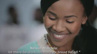Still image from DA ad